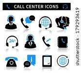 call center service icons set... | Shutterstock .eps vector #179293619