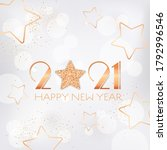 happy new year 2021 greeting...   Shutterstock .eps vector #1792996546