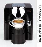 A Black Modern Espresso Coffee...
