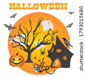 halloween party vector... | Shutterstock .eps vector #1793015680