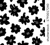 black abstract flowers vector... | Shutterstock .eps vector #1793017240