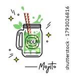 mojito party icon. homemade... | Shutterstock .eps vector #1793026816