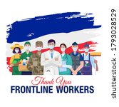 thank you frontline workers.... | Shutterstock .eps vector #1793028529