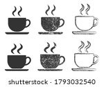 coffee cup icon symbol set.... | Shutterstock .eps vector #1793032540