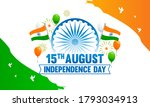 indian independence day... | Shutterstock .eps vector #1793034913