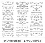 set of linear text dividers...   Shutterstock .eps vector #1793045986