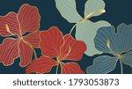 luxury elegant gold orchids... | Shutterstock .eps vector #1793053873