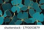 luxury elegant gold orchids... | Shutterstock .eps vector #1793053879