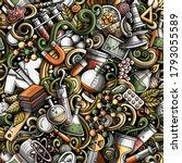 science hand drawn doodles... | Shutterstock .eps vector #1793055589