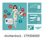 medical design over blue  ... | Shutterstock .eps vector #179306000