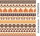 greek key pattern  waves and... | Shutterstock .eps vector #1793068906