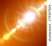 realistic sun burst with flare. ... | Shutterstock .eps vector #179307824