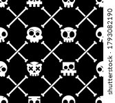 Halloween Skull Vector Seamless ...