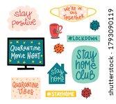 corona covid 19 virus lettering.... | Shutterstock .eps vector #1793090119