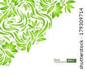 abstract vector floral corner... | Shutterstock .eps vector #179309714
