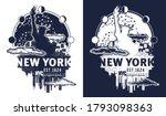 new york slogan. statue of... | Shutterstock .eps vector #1793098363