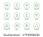 organic cosmetic line icons set.... | Shutterstock .eps vector #1793098630