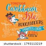 cute caribbean pirate treasure... | Shutterstock .eps vector #1793113219