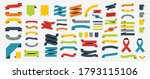 ribbon set in colorful design.... | Shutterstock .eps vector #1793115106