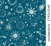 seamless space pattern. can be... | Shutterstock .eps vector #179313140