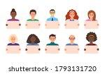 cartoon color characters people ... | Shutterstock .eps vector #1793131720