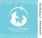 merry christmas and happy new... | Shutterstock .eps vector #1793136136