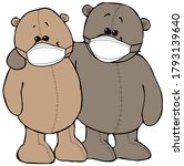 Illustration Of Two Teddy Bear...
