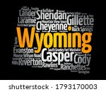list of cities in wyoming usa... | Shutterstock .eps vector #1793170003