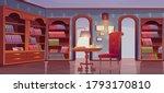vip library  luxury interior ... | Shutterstock .eps vector #1793170810
