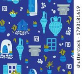 greece symbols cartoon vector...   Shutterstock .eps vector #1793181619