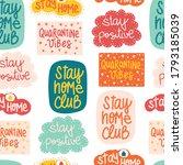 coronavirus covid 19 lettering... | Shutterstock .eps vector #1793185039
