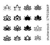 lotus flower. black version of... | Shutterstock .eps vector #179318669
