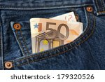 fifty euro banknote in the...   Shutterstock . vector #179320526