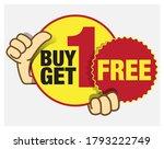buy 1 get 1 free promo unit ... | Shutterstock .eps vector #1793222749