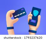 secure payment design concept.... | Shutterstock .eps vector #1793237620