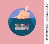 vector goodbye summer vintage... | Shutterstock .eps vector #1793239159