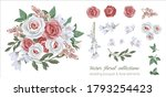 vector floral set with leaves... | Shutterstock .eps vector #1793254423