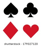 card suit icons | Shutterstock . vector #179327120