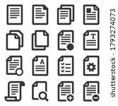 documents file icons set on...