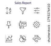 sales report   outline icon set ... | Shutterstock .eps vector #1793276410