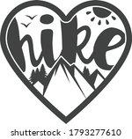 hike heart shape    hiking...   Shutterstock .eps vector #1793277610