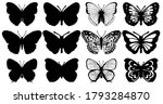 butterflies carve  shadow and... | Shutterstock .eps vector #1793284870