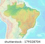 topographic map of brazil with... | Shutterstock . vector #179328704