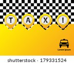 taxi text in pointers yellow... | Shutterstock .eps vector #179331524