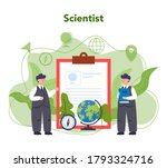 geography concept. studying the ... | Shutterstock .eps vector #1793324716