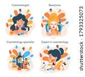 cosmetologist concept set  skin ... | Shutterstock .eps vector #1793325073