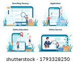 unemployed online service or...   Shutterstock .eps vector #1793328250