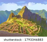 Machu Picchu In Peru....