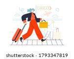business topics   business trip.... | Shutterstock .eps vector #1793347819