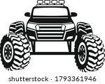 big monster truck vector ... | Shutterstock .eps vector #1793361946